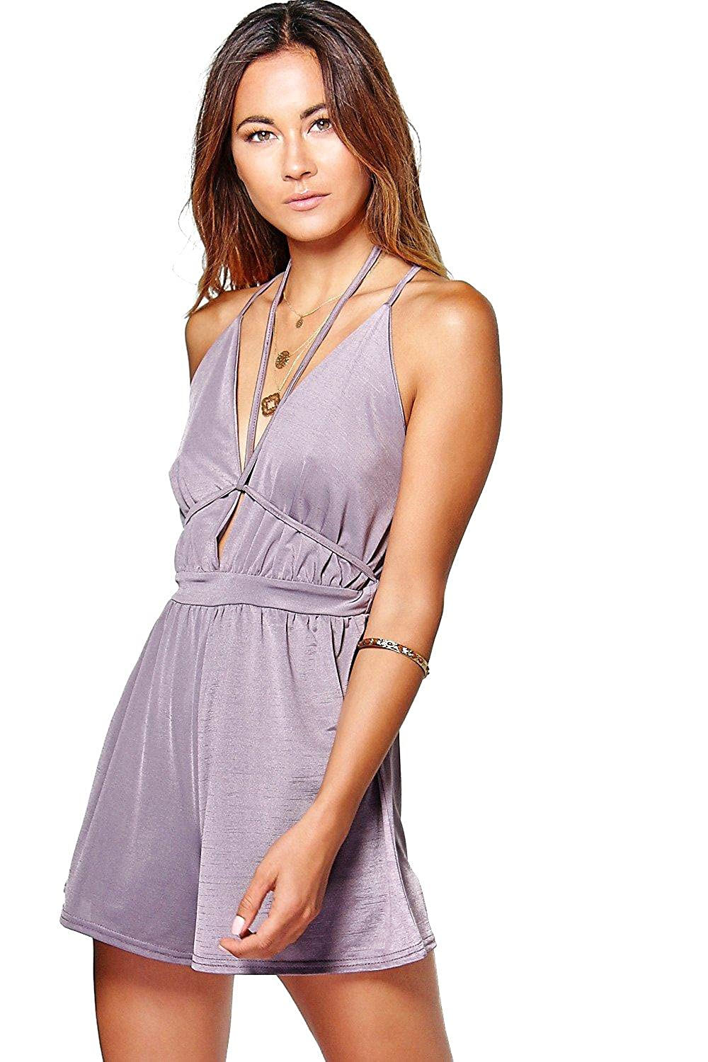 Lilac Womens Kate Harness Detail Playsuit