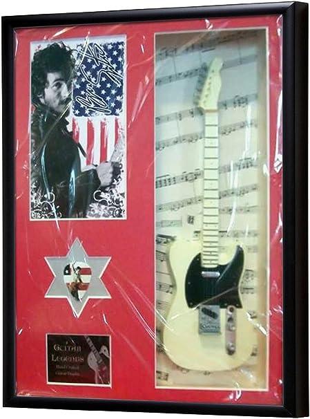 Bruce Springsteen Miniatura guitarra enmarcado pantalla: Amazon.es ...