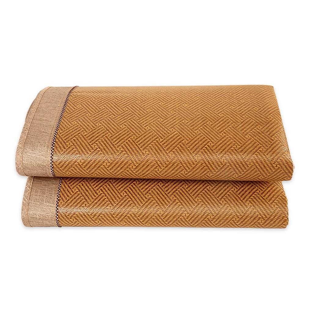 マットレス 籐マット竹マットわらマット夏マット折りたたみマットソファマット寮マットホームカーペットベッドカーペット (Color : Brown, Size : 135*195cm) B07T6ZM1WM Brown 135*195cm