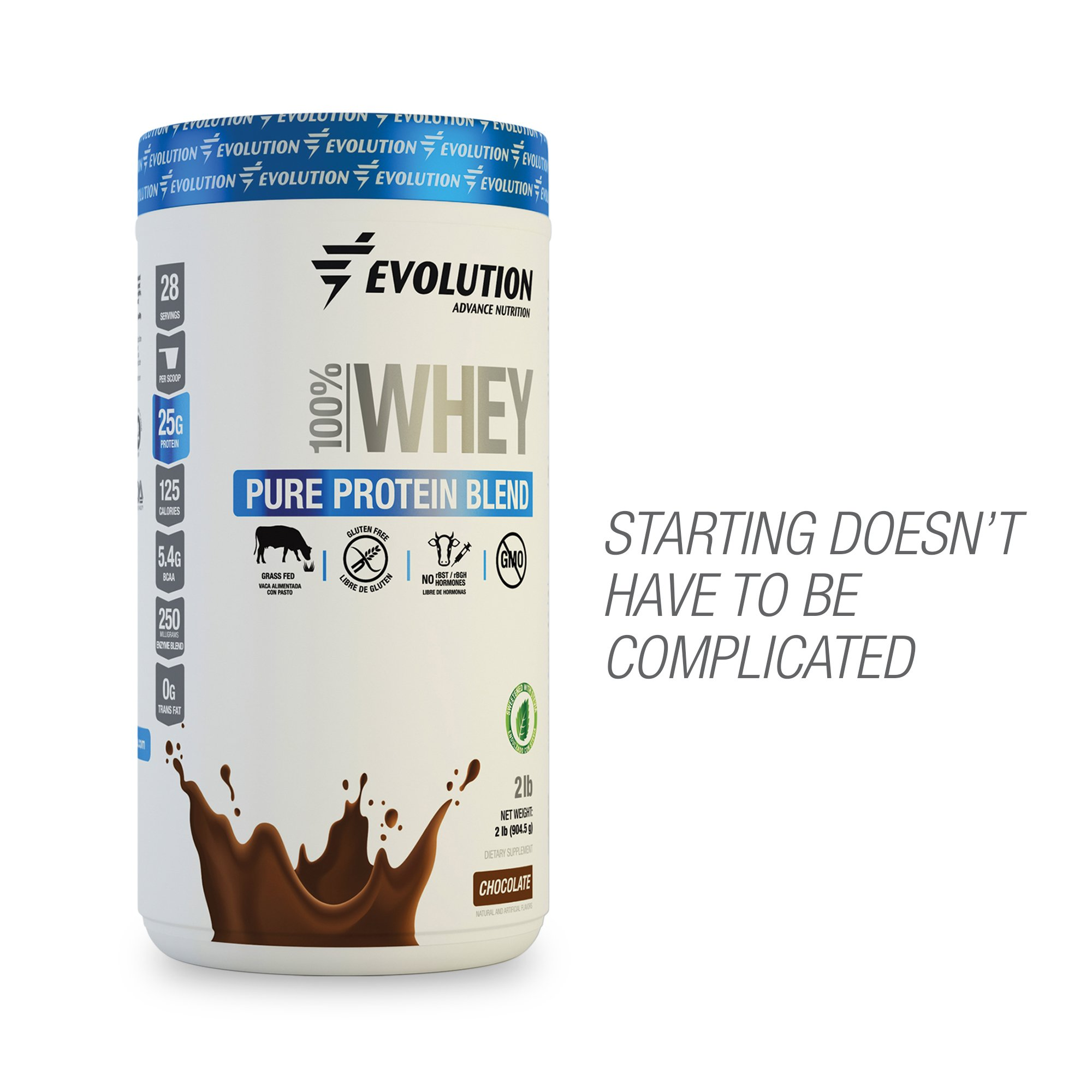 31828623f Whey Protein Powder Blend Grass Fed by Evolution - 25 Gr of Protein Only  125 Calories