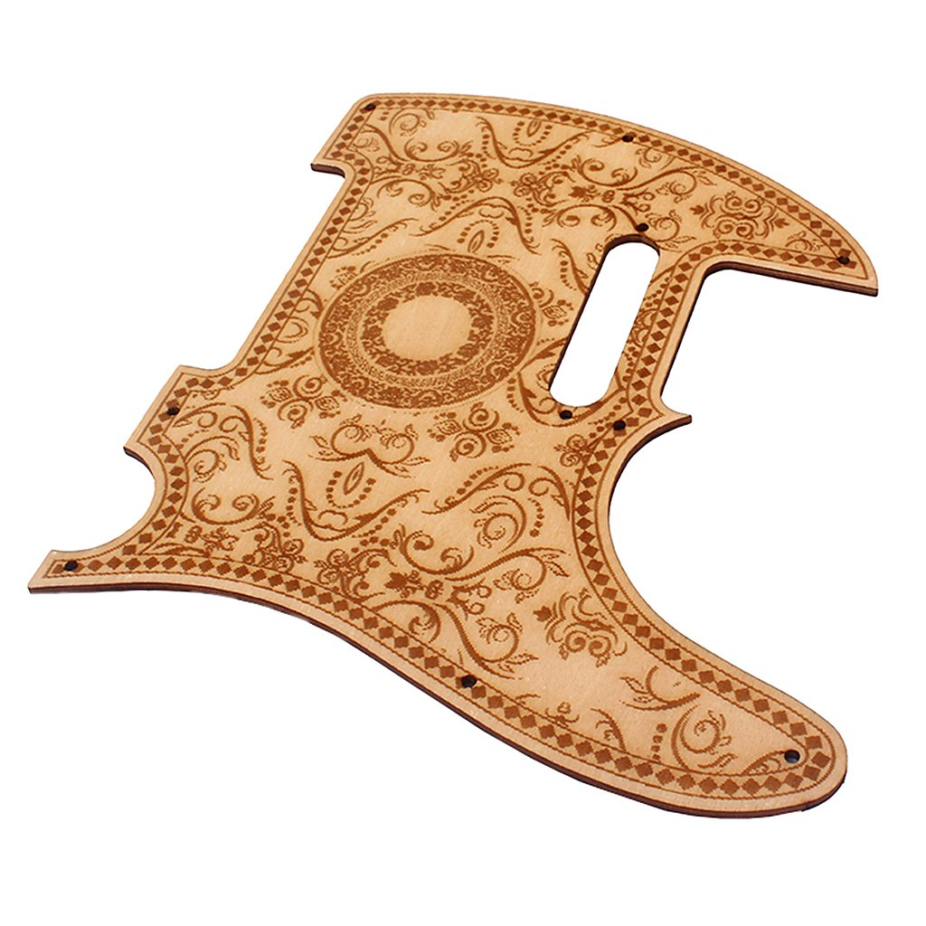 Dovewill Maple Flower Pickguard Scratch Plate Protector For Telecaster Tele TL Guitar