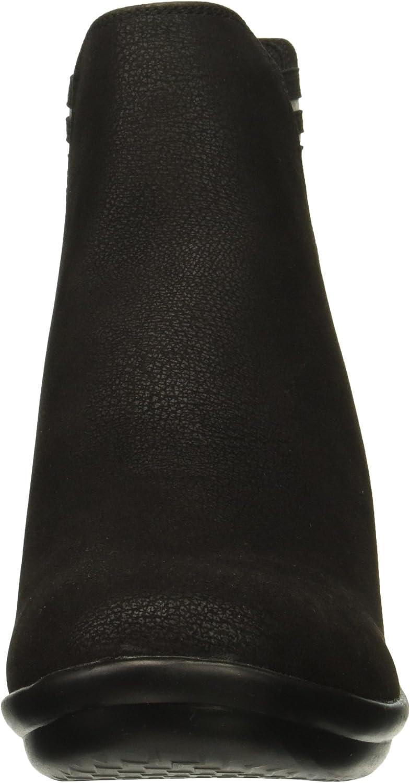 Skechers Damen Wedge Heeled Dressy Casual Striped Boot Rumblers - Beam Me Up - Gore Chelsea, hoher Keilabsatz, elegant, lässig, gestreift, Stiefel Schwarz