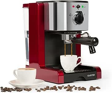 Klarstein Passionata Rossa 20 - Máquina de espresso, Cafetera ...