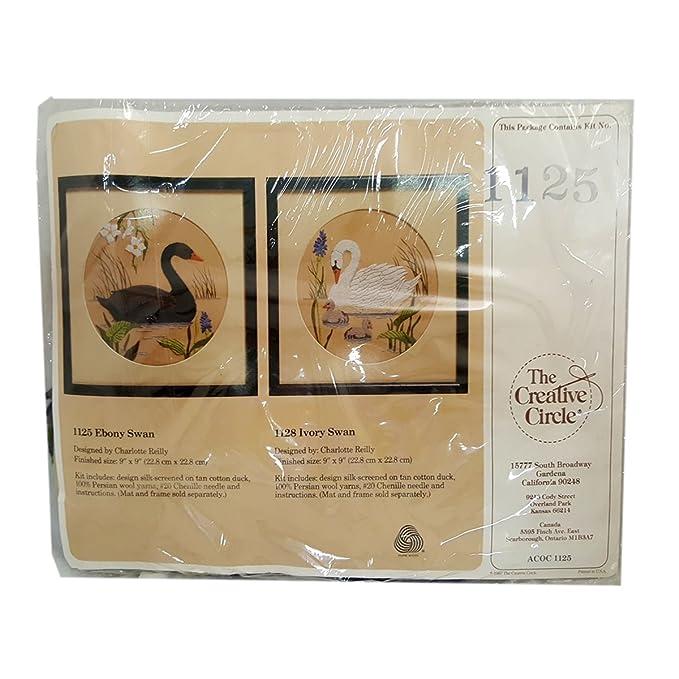 Amazon Vintage The Creative Circle Needlepoint Kit 1125 Ebony Swan