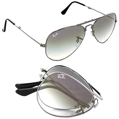 20f797ec3d5 Amazon.com  Ray-Ban Aviator Folding RB3479 Sunglasses Silver Frame ...