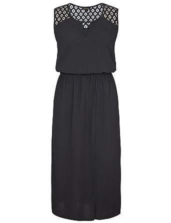 7d7d106ac32b41 Chicwe Damen Große Größen Maxi Kleid Ärmellos mit Spitze Schultern 1X-4X:  Amazon.de: Bekleidung