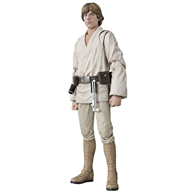 Bandai S.H Figuarts Star Wars Luke Skywalker (A New Hope)?About 150mm ABS u0026 PVC Painted Action Figure: Toys & Games