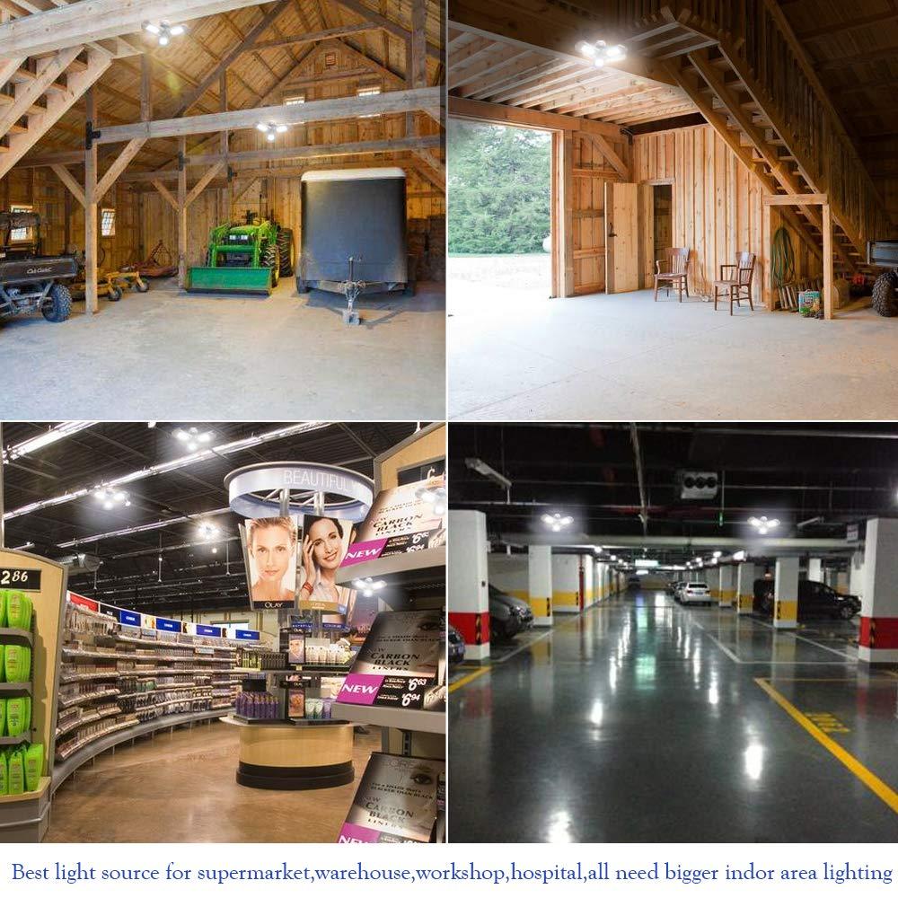 Garage Lighting,E26 Led Bulb 6000LM,Led Garage Ceiling Lights,led Garage Lights,Garage Light Bulb,led Bulb for Garage,led Shop Light,Workshop Light (Daylight, 60w''Standard'') (60w''Standard'' Daylight) by LifeLux (Image #7)