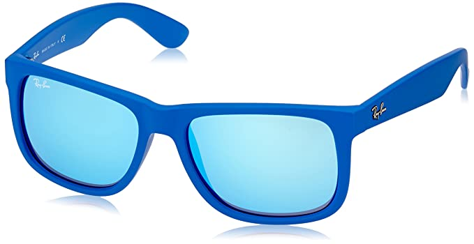 b9f54062209 Image Unavailable. Image not available for. Colour  RayBan Unisex Blue  Wayfarer Sunglasses RB-4165-6088-55