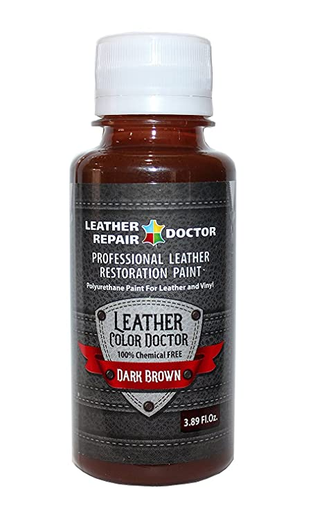 Profesional Color Marrón Oscuro Piel pintura para, recoloring de retoque y restauración – Zapatos, chaqueta, bolso de mano, cinturón, sofá, silla, ...