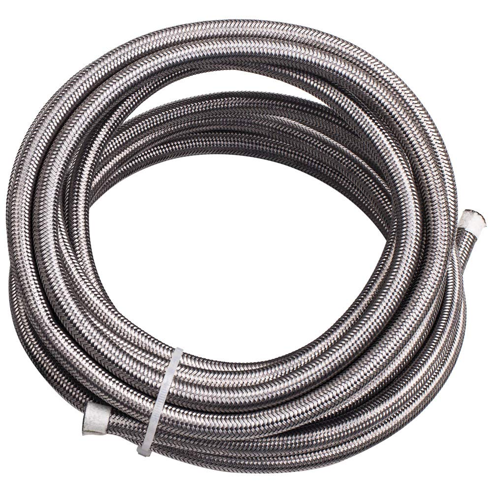 20FT AN6-6AN Stainless Steel Teflon/PTFE Fuel Line Black Fitting E85 Ethanol by Tuningsworld (Image #5)