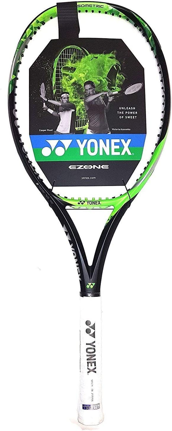 Yonex EZONE Lite (286g - 10.1 oz) Lime Green Tennis Racquet Strung with Custom String Colors (Best Racket for Enhanced Sweetspot & Vibration ...