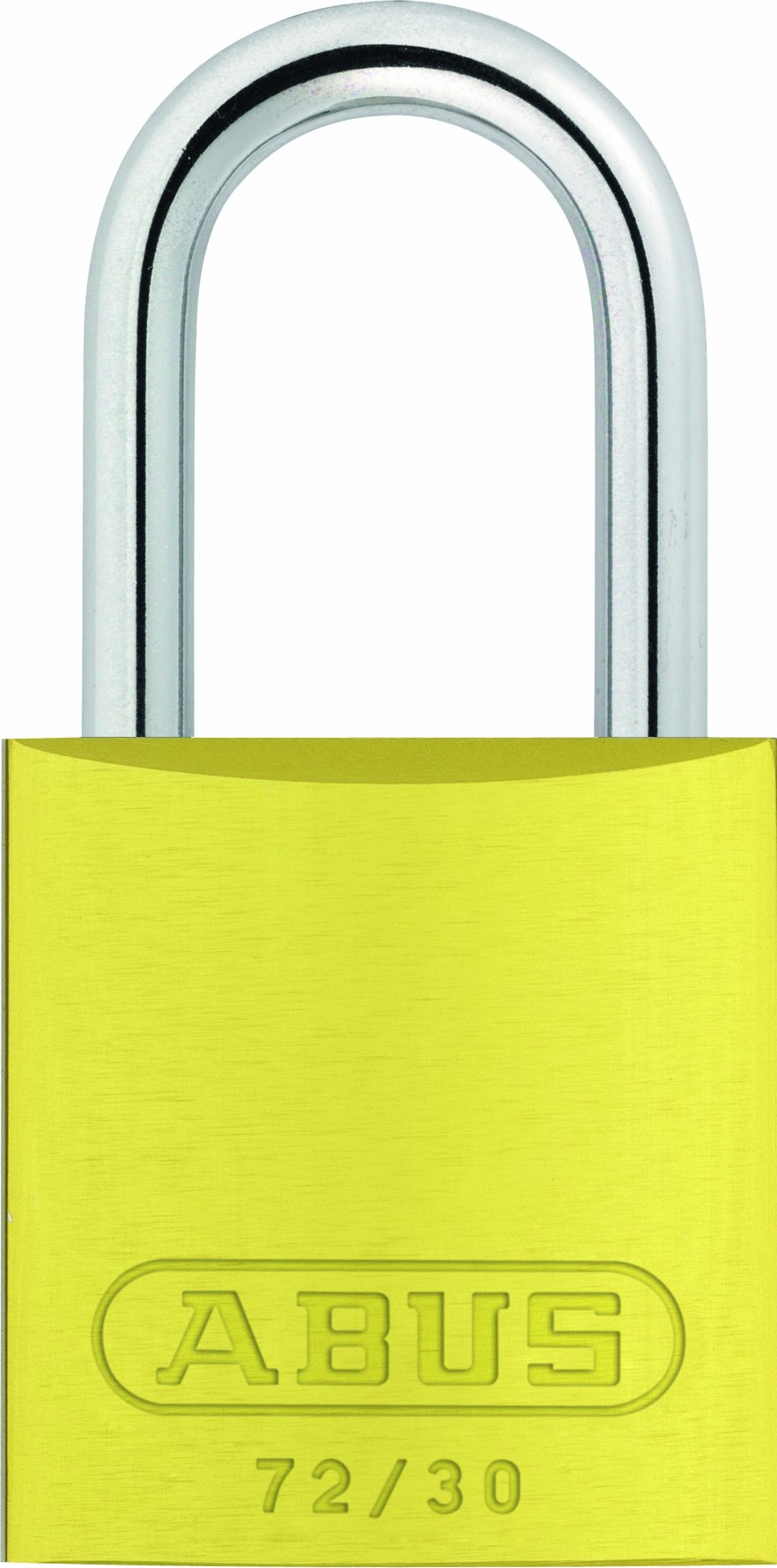 ABUS 72/30 KA Safety Lockout Aluminum Keyed Alike Padlock, Yellow