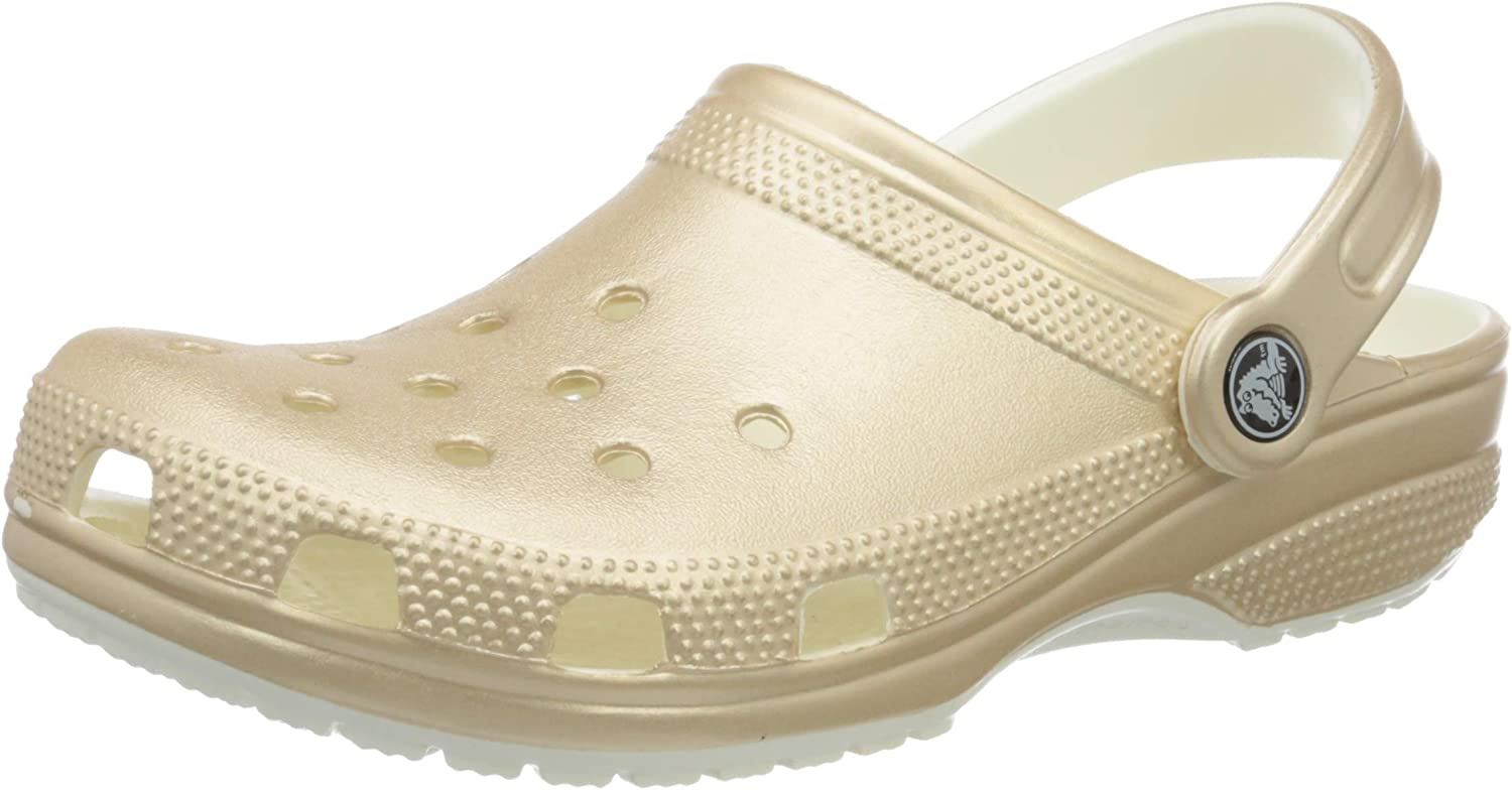 Crocs Mens and Womens Classic Sparkly Clog Metallic and Glitter Shoes