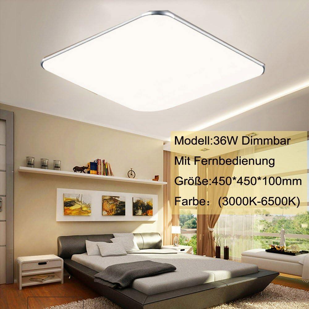 SZYSD LED Ultraslim Panel Deckenleuchte Badleuchte Deckenlampe Silber Kante  Flurleuchte (15W Dimmbar)