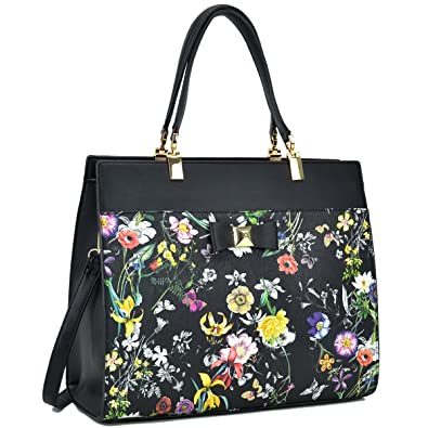 11be9b829a Dasein Women s Fashion Designer Satchel Handbags Purse Shoulder Bag Work Bag  With Removable Shoulder Strap (