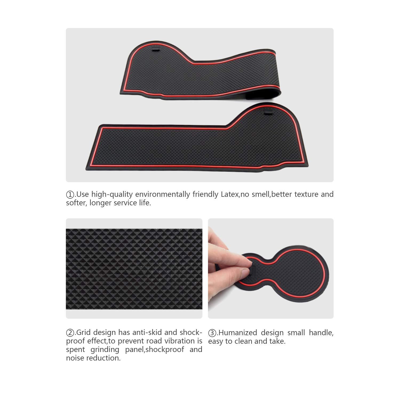 Esterillas Antideslizantes para la Ranura de la Puerta del Coche para Seat Tarraco 2019 2020 RUIYA con Logotipo Antipolvo 5 plazas
