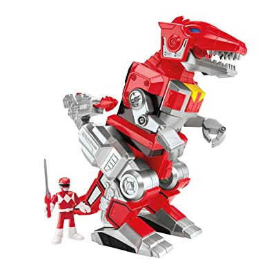 Fisher-Price Imaginext Power Rangers Red Ranger and T-rex Zord: Toys & Games