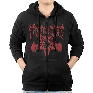 936a12040ab3 Men Thrasher Skateboard Zip Up Hoodie Vintage at Amazon Men s Clothing  store
