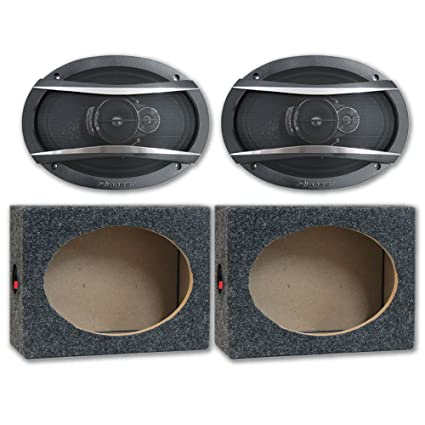 Package Pair Of Pioneer TS A6966R 6x9 3 Way Car Audio Speakers 420w With