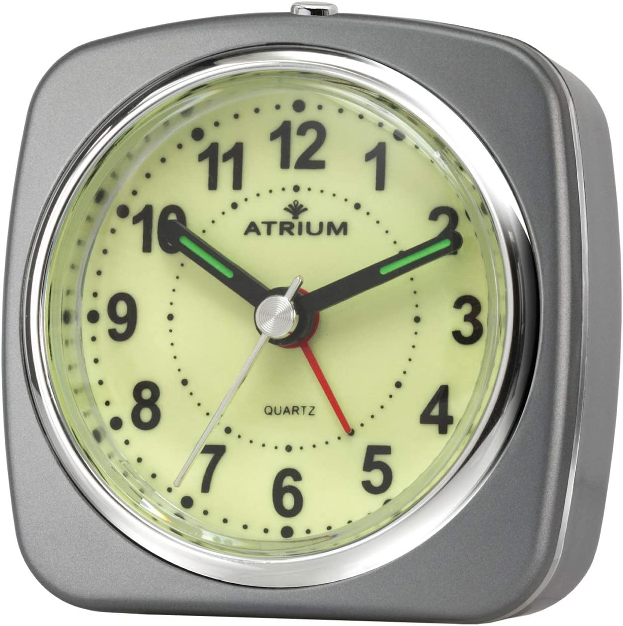 ATRIUM A235-4 R/éveil analogique /à quartz sans tic-tac Gris argent/é