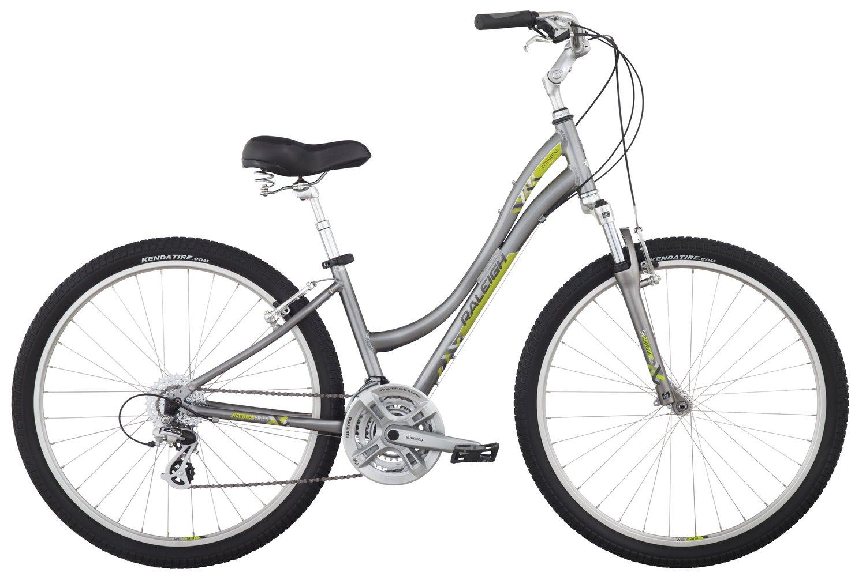 Raleigh Bikes Venture 4.0 Step Thru Comfort Bike, 13'' /Xs Size, Silver, 13'' / X-Small