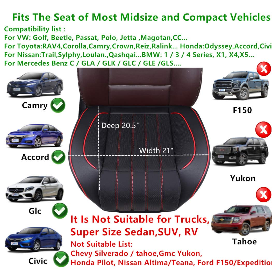Fit Most Midsize Vehicles or Van yberlin Car Seat Cushion Cover ...