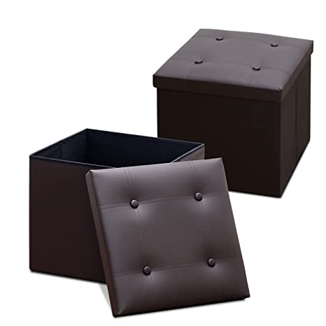 Fantastic Amazon Com Furinno 2 Fhsoo25 Faux Leather Square Storage Creativecarmelina Interior Chair Design Creativecarmelinacom