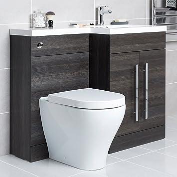 Aquariss Designer RH Grey Combi Bathroom Vanity Unit Basin Back To - Rh bathroom
