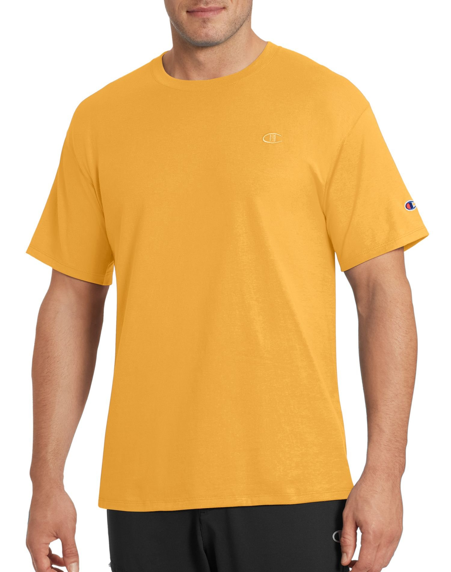 Champion Men's Classic Jersey T-Shirt, Team Gold, 4X Large by Champion