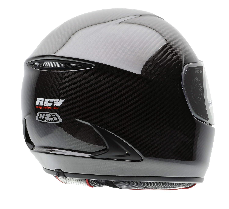 NZI 010221G007M RCV Carbon Casco de Moto, Gris, Talla M