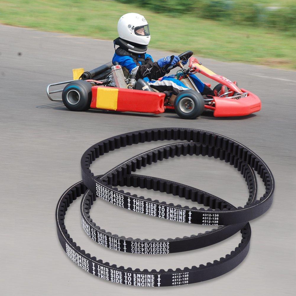 Disco Embrague cinturón, goma Go Kart Motor Correa De Transmisión Para yerf-dog Go Karts 203591-q43203 W (Pack de 3): Amazon.es: Coche y moto