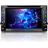 """Corehan 6.2"""" Touchscreen in Dash Double Din GPS Navigation Vehicle Car Dvd Player Stereo Reciver with Bluetooth USB"""