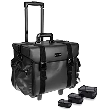 Amazon.com   SHANY Makeup Artist Soft Rolling Trolley Cosmetic Case with  Free Set of Mesh Bags - Head Turner   Makeup Bags And Cases   Beauty f22d969006534