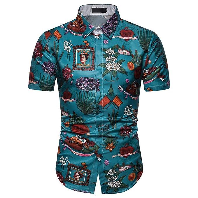 XuanhaFU Camiseta Hombre Polo, Camisa de Verano de Manga Corta con ...
