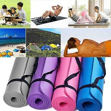 dozenla Essentials Yoga Mat Fitness Exercise Mat Durable Portable Solid Non-Slip Soft Yoga Mat