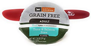 SIMPLY NOURISH Wet Cat Food Adult Tuna and Salmon Stew, Flaked 2.8oz (Pack of 24) and Especiales Cosas Spatula