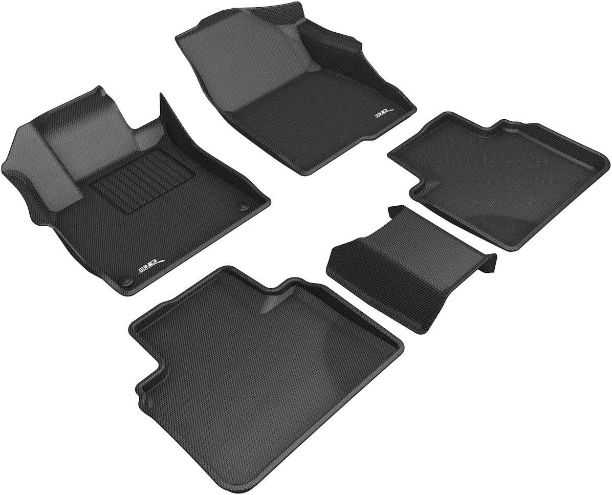 Nylon Carpet Coverking Custom Fit Front and Rear Floor Mats for Select Honda Accord Crosstour Models Black CFMBX1HD8712