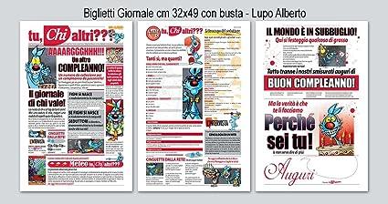 Carte De Joyeux Anniversaire Journal Lupo Alberto Amazon Fr Fournitures De Bureau