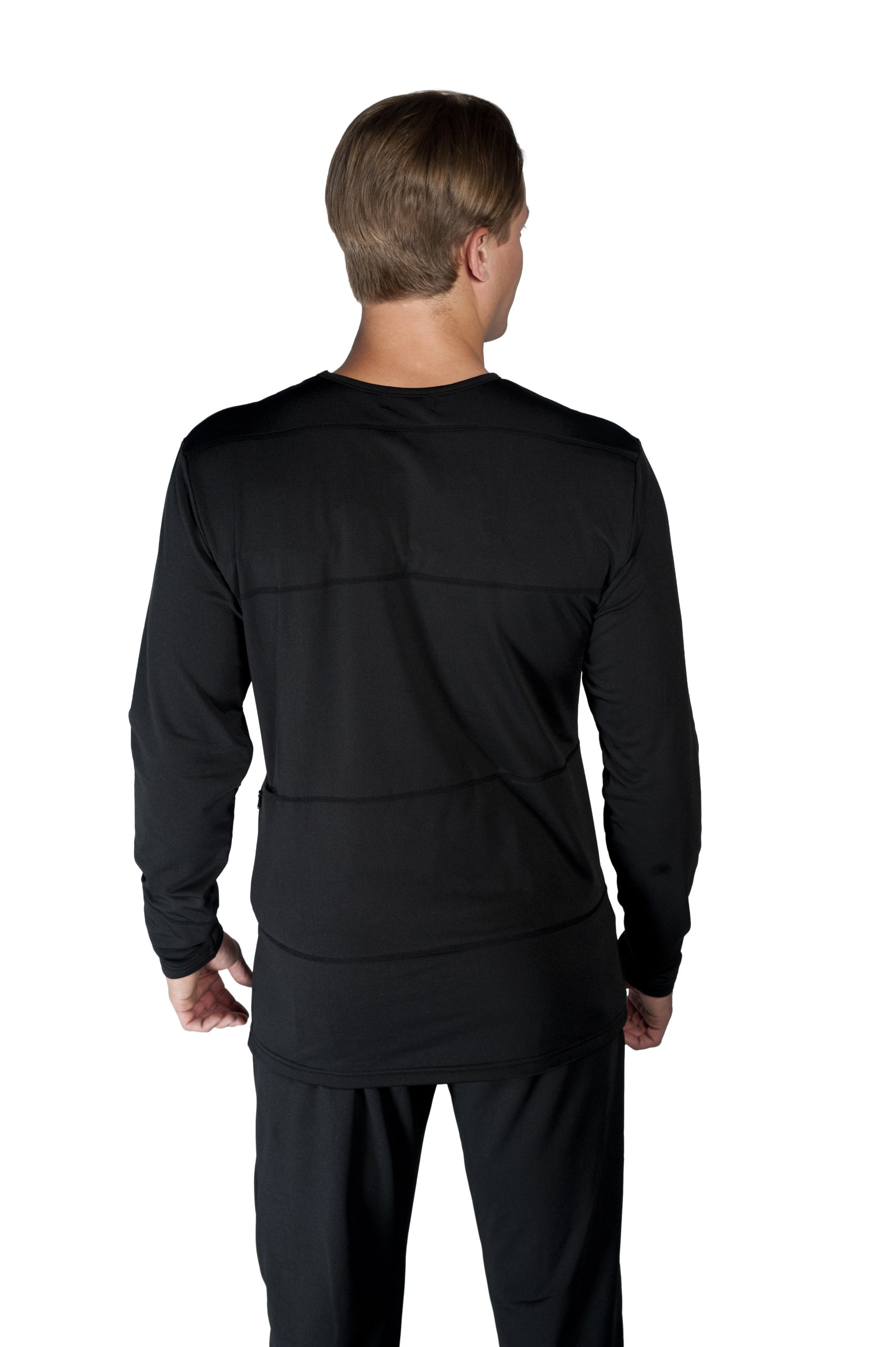 VentureHeat Battery Heated Base Layer Top with Tri-Zone Heating Area (Black, X-Large) by Venture Heat (Image #2)