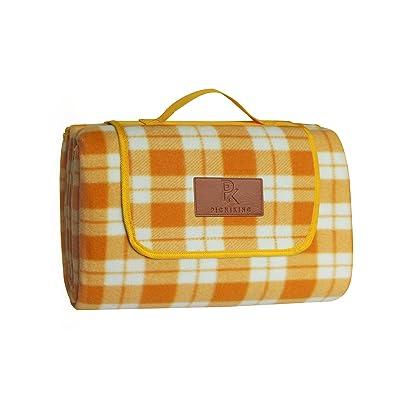 "PicniKing Extra Large Waterproof Picnic Blanket (78""x59"") | Slip Resistant | Premium Polar Fleece | Machine Washable | Foldable Tote | XL (Dreamsicle): Sports & Outdoors"