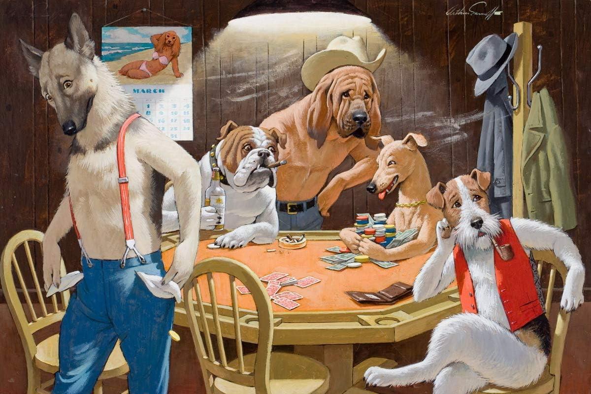 Berkin Arts Arthur Saron Sarnoff Giclee Papel de Arte impresión Obras de Arte Pinturas Reproducción de Carteles(Perros Jugando al Poker): Amazon.es: Hogar