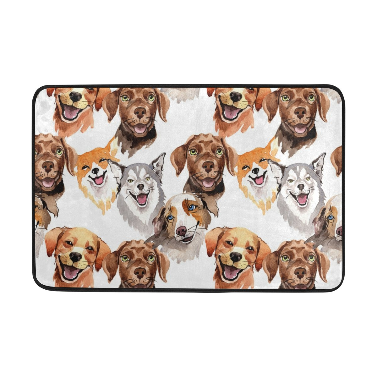 Top Carpenter Wild Animal Dog Area Rug Pad - 23.6x15.7 inch - 100% Light Weight Polyester Fabric for Living - Bedroom