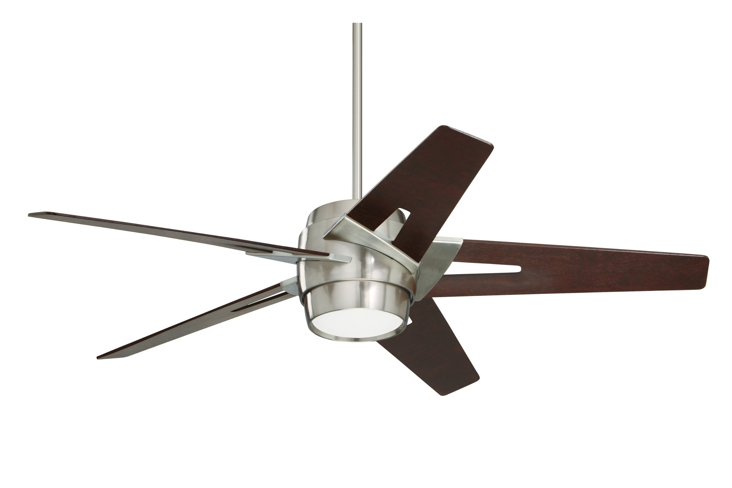 Emerson Ceiling Fans CF550DMBS Luxe Eco Modern Ceiling Fans With Light And Wall Control, 54-Inch Blades, Brushed Steel Finish