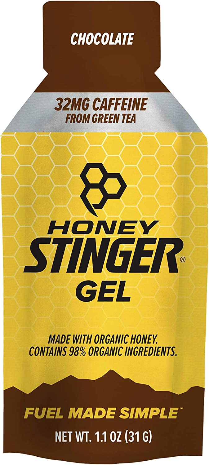 Honey Stinger Classic Energy Gel, Chocolate, Caffeinated, Sports Nutrition, 1.1 Ounce (Pack of 24)