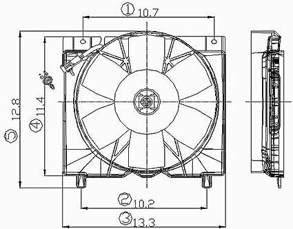 Crash partes Plus Radiador de refrigeración ventilador montaje ...
