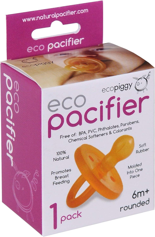ecopacifier ecopiggy redondeadas Natural Chupete, 1 unidad Talla ...