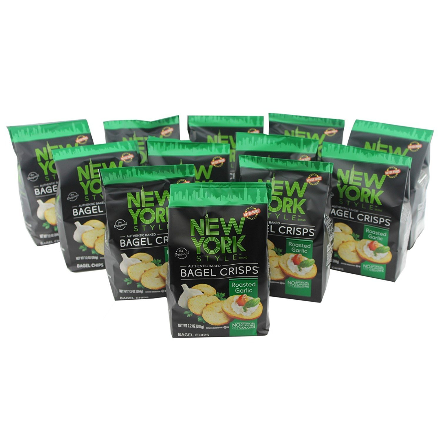 New York Style Bagel Crisps, Garlic, 7.2 Ounce (Pack of 12) Prime Value Inc -- Dropship