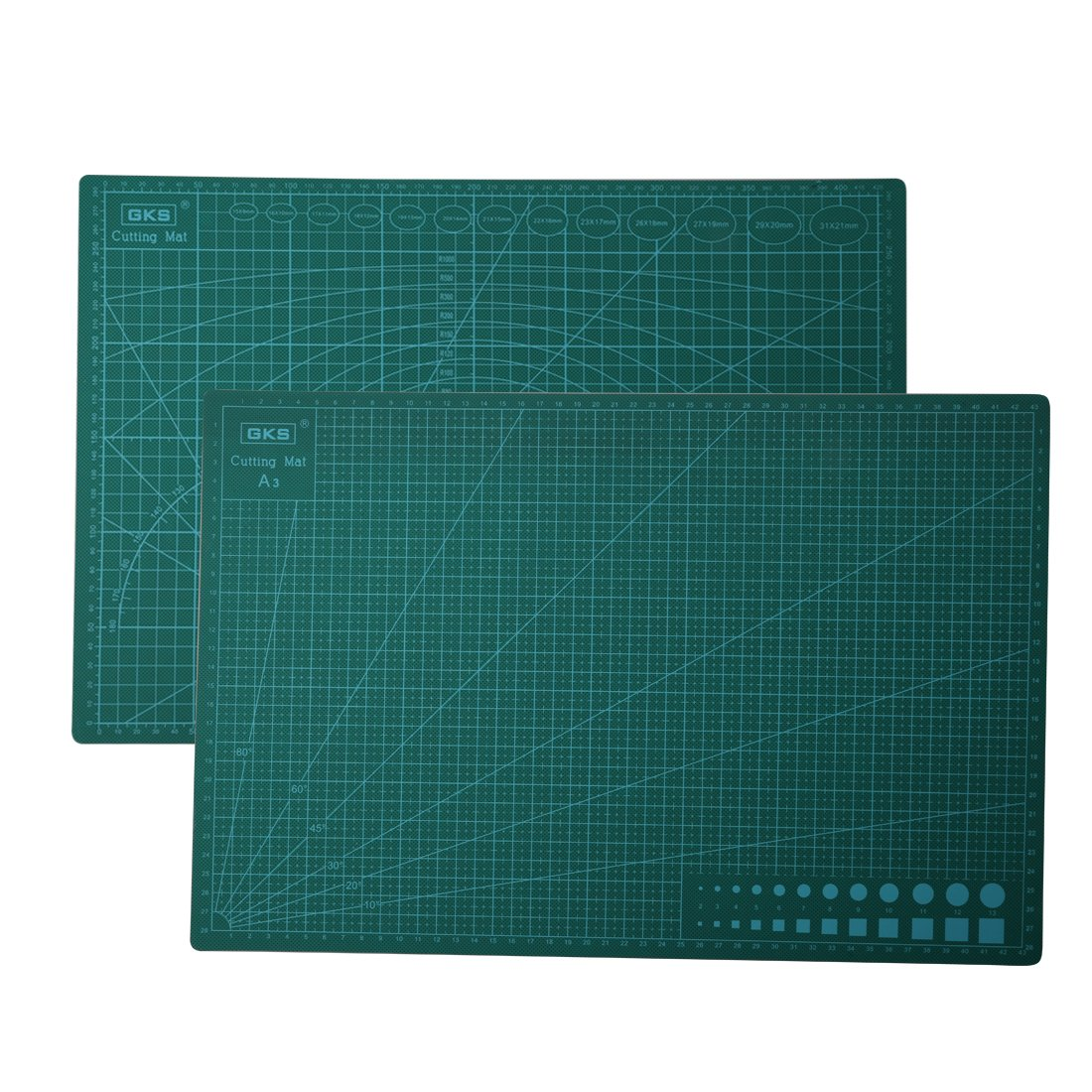 A-SZCXTOP A3 Cutting Mat& Craft Mat Double Sided Self Healing Cutting Board with Metric/Imperial 30 x 45cm - Green