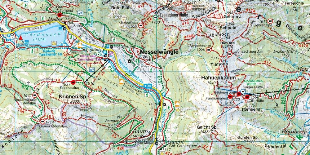 Tannheimer Tal Karte.Wk 352 Ehrwald Lermoos Reutte Tannheimer Tal